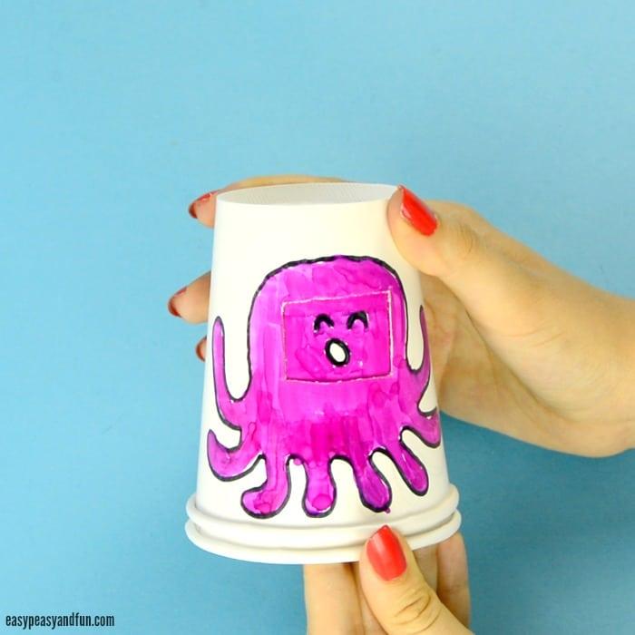Paper Cup Octopus 6