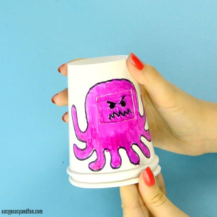 Paper Cup Octopus 2