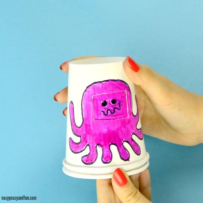 Paper Cup Octopus 5