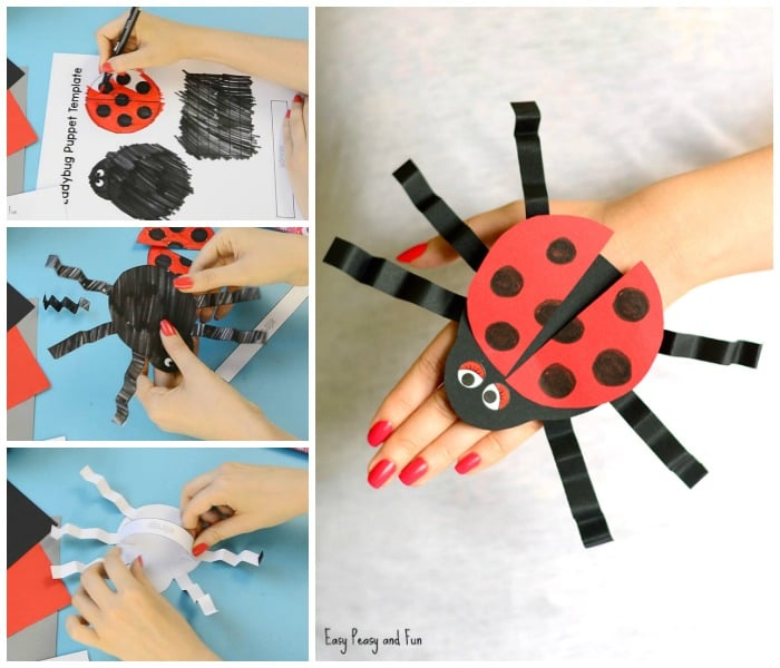 Printable Ladybug Hand Puppet