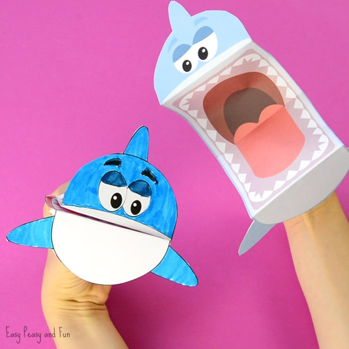 Grab The Printable Shark Puppet Template Here