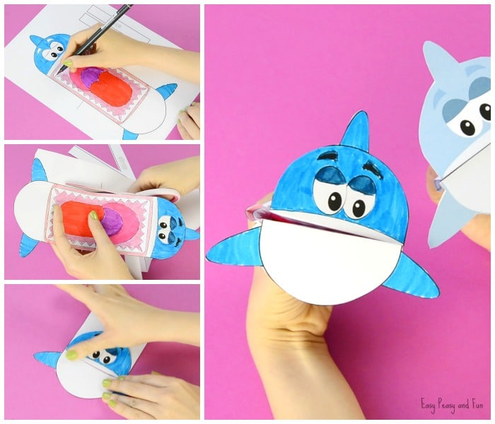photograph relating to Shark Printable referred to as Printable Shark Puppet - Simple Peasy and Enjoyment