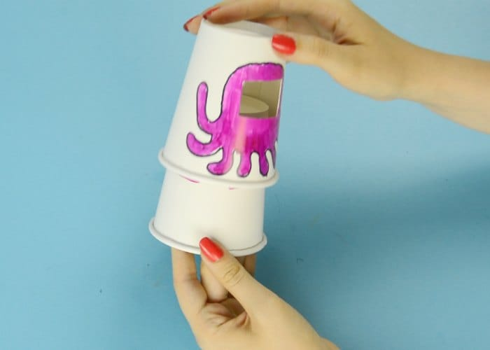 paper cup octopus emotion changing paper cup octopus easy peasy and 2622