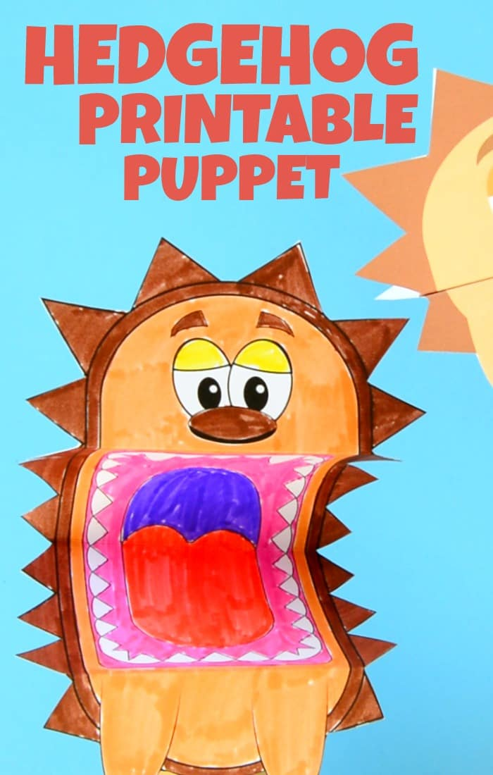 picture about Printable Puppets titled Printable Hedgehog Puppets - Straightforward Peasy and Exciting