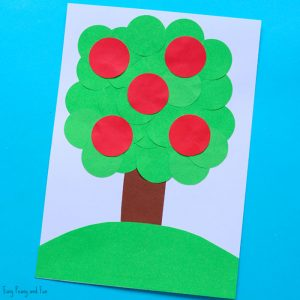 Apple Tree Circle Punch Craft for Kids