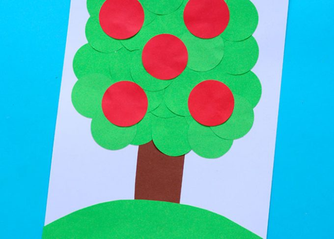 Apple Tree Circle Punch Craft – Paper Collages