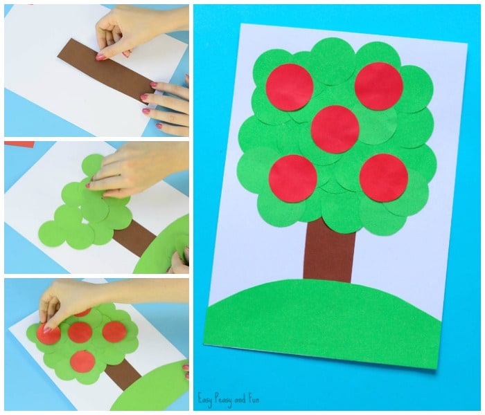 Apple Tree Circle Punch Craft for Kids to Make