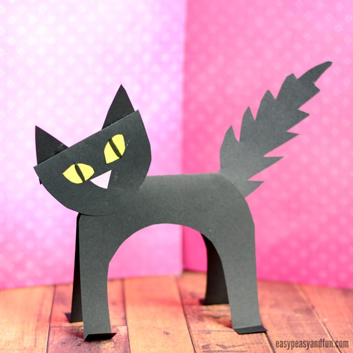 Black Cat Paper Craft for Kids