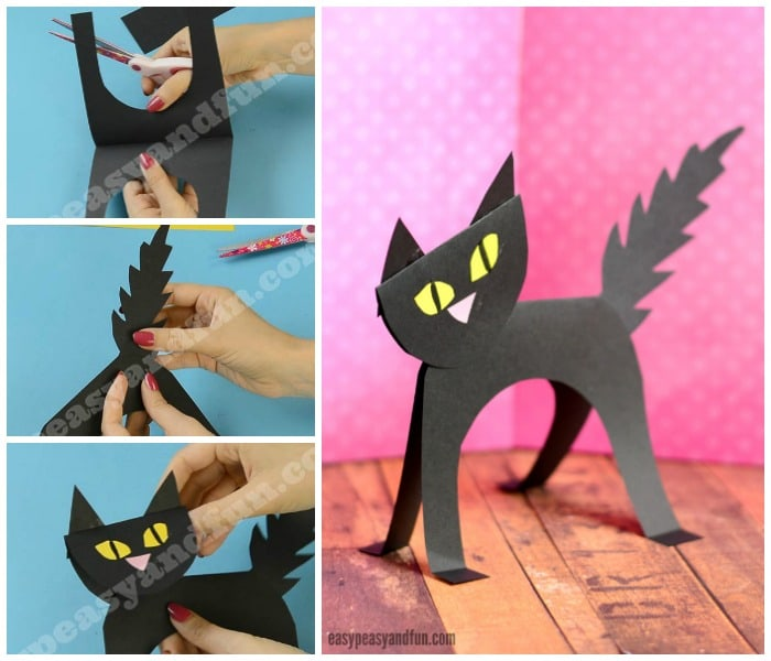 Black Cat Simple Paper Craft