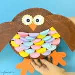 Colorful Paper Plate Owl Craft