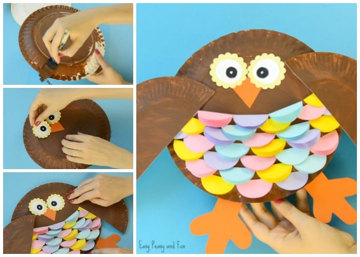 Colorful Paper Plate Owl Craft for Kids