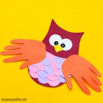 Construction Paper Owl Craft