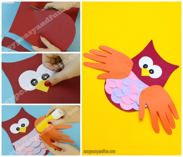 Construction Paper Owl Craft Idea