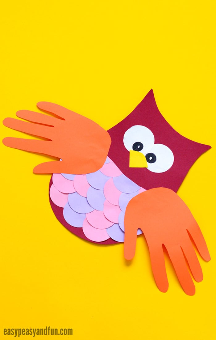 Construction Paper Owl Craft for Kids