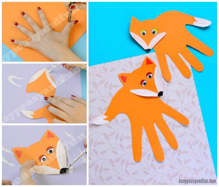 Cute Handprint Fox Craft