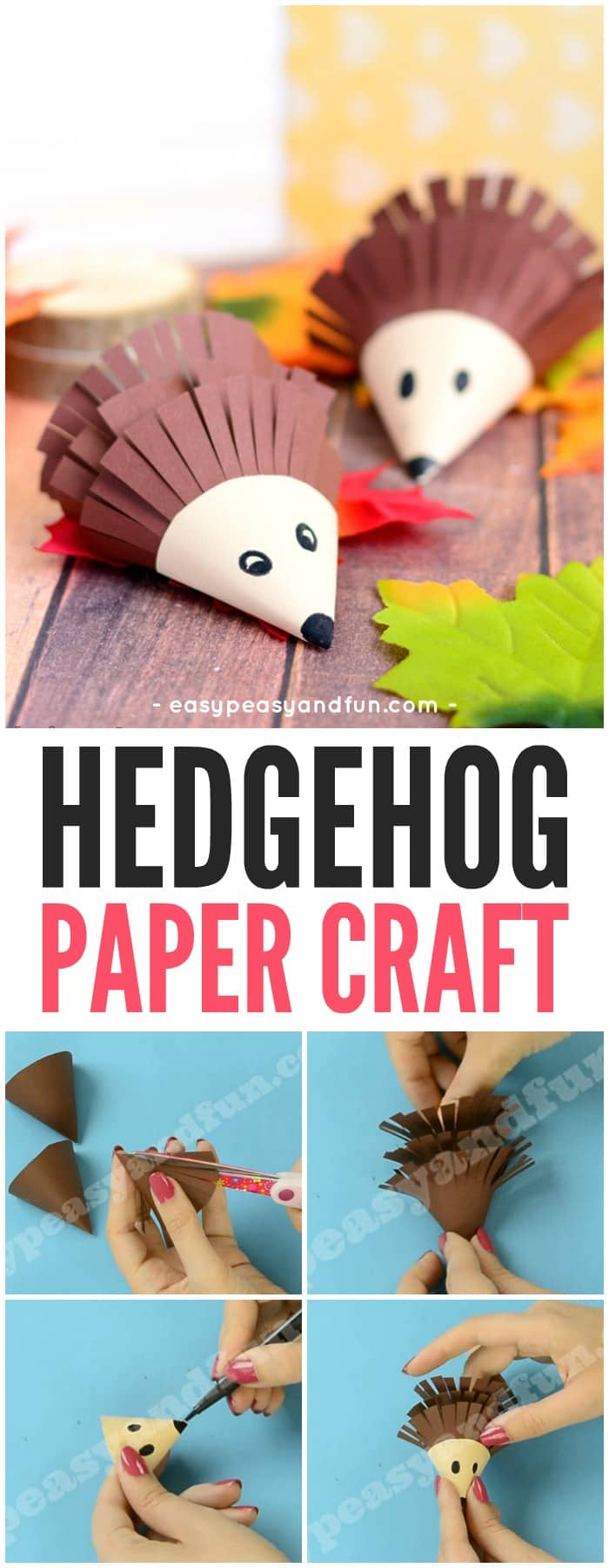 Cute Hedgehog Paper Craft Idea for Kids