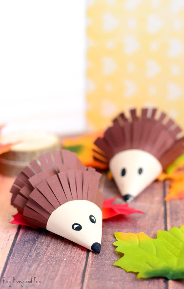 Cute Hedgehog Paper Craft for Kids
