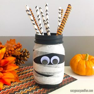 Cute Mason Jar Mummy Craft
