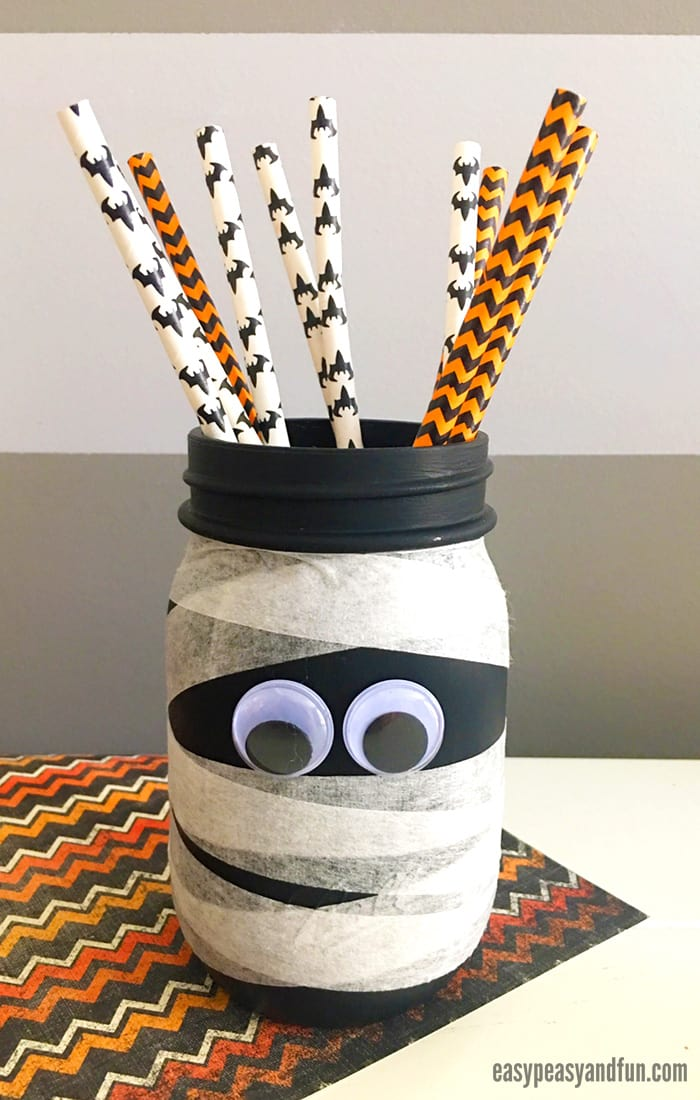 Cute Mason Jar Mummy Craft for Kids