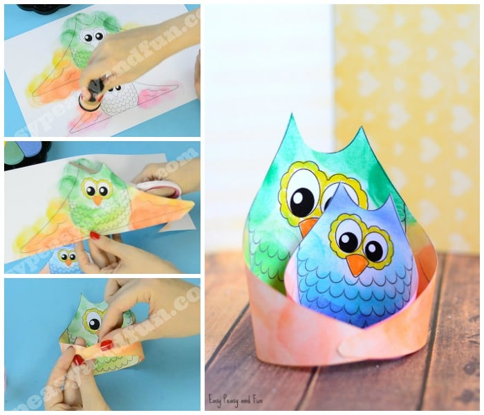 Cute Owl Craft Template