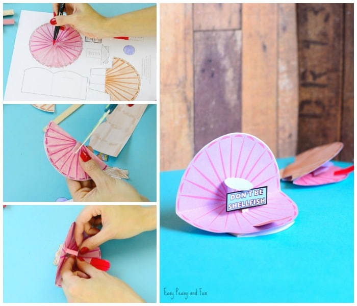 Cute Seashell Pop Up Paper Craft