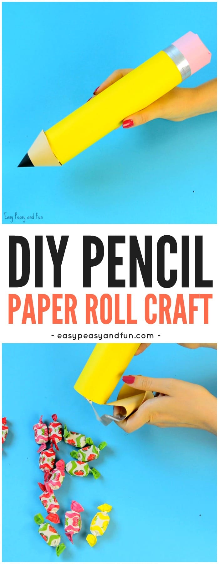 DIY Paper Roll Pencil Craft for Kids