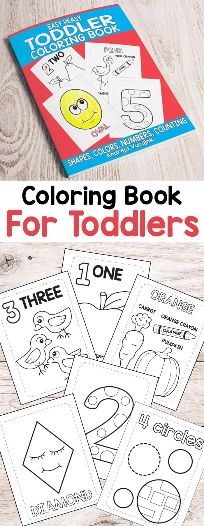 Easy Peasy And Fun: Easy Peasy Toddler Coloring Book