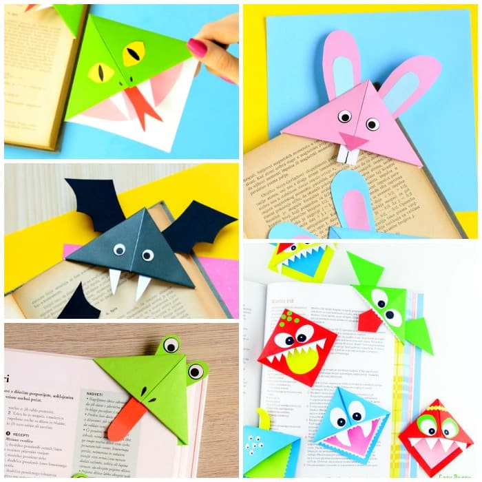 Fun Corner Bookmarks Ideas for Kids