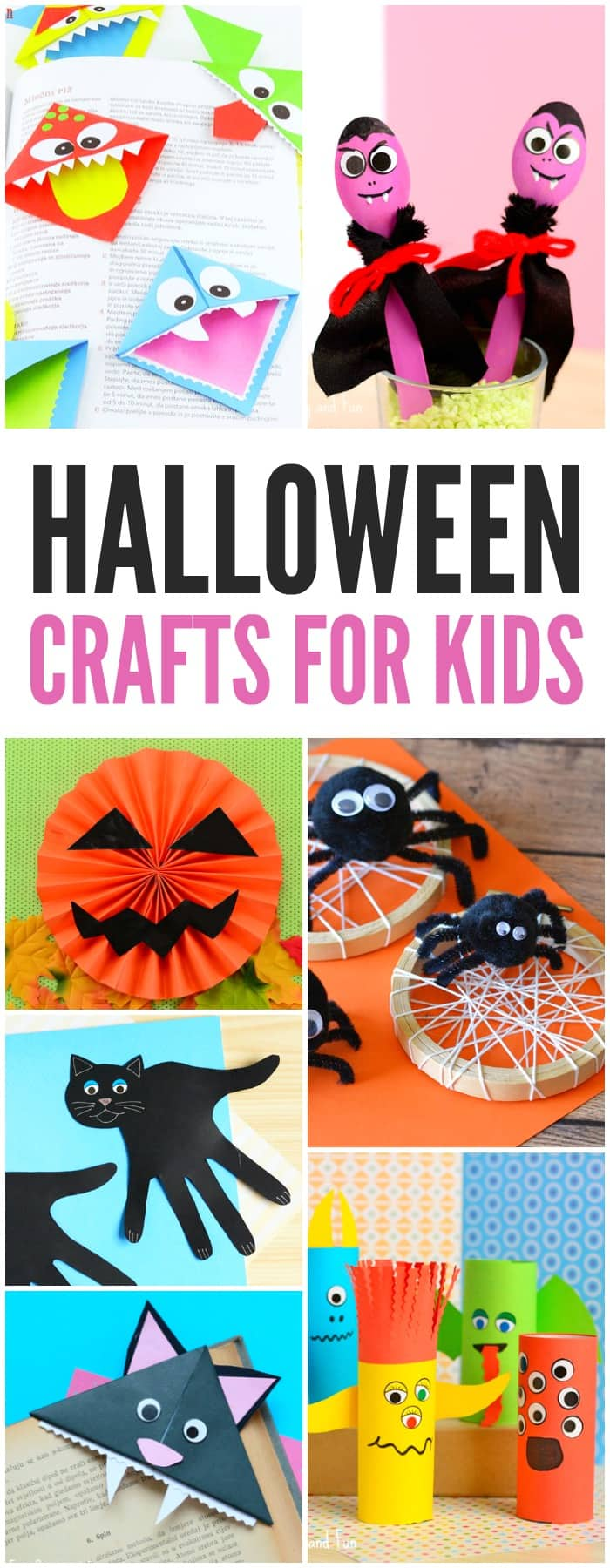 Lots of great Halloween crafts for kids, from simple ideas for toddlers and preschoolers to art and craft tutorials for older kids. Simple and fun.
