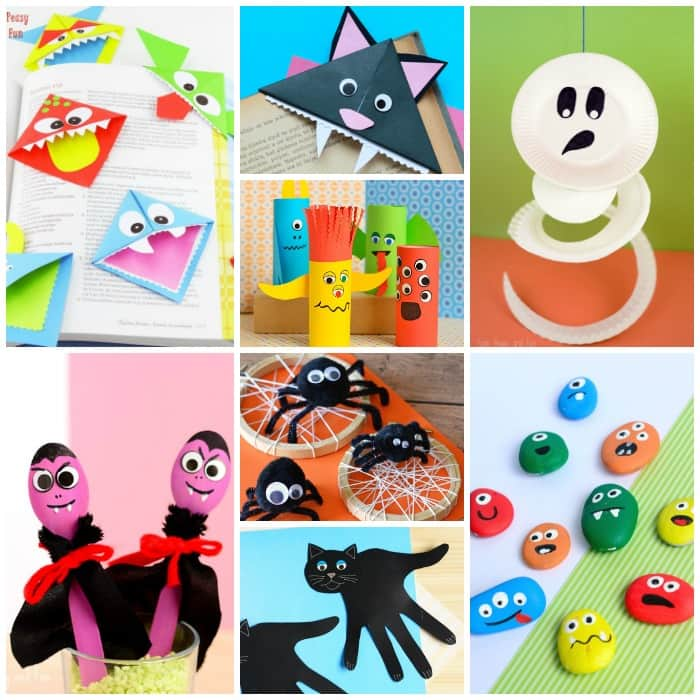 photograph regarding Halloween Craft Printable called 25+ Halloween Crafts for Youngsters - Artwork and Craft Tutorials