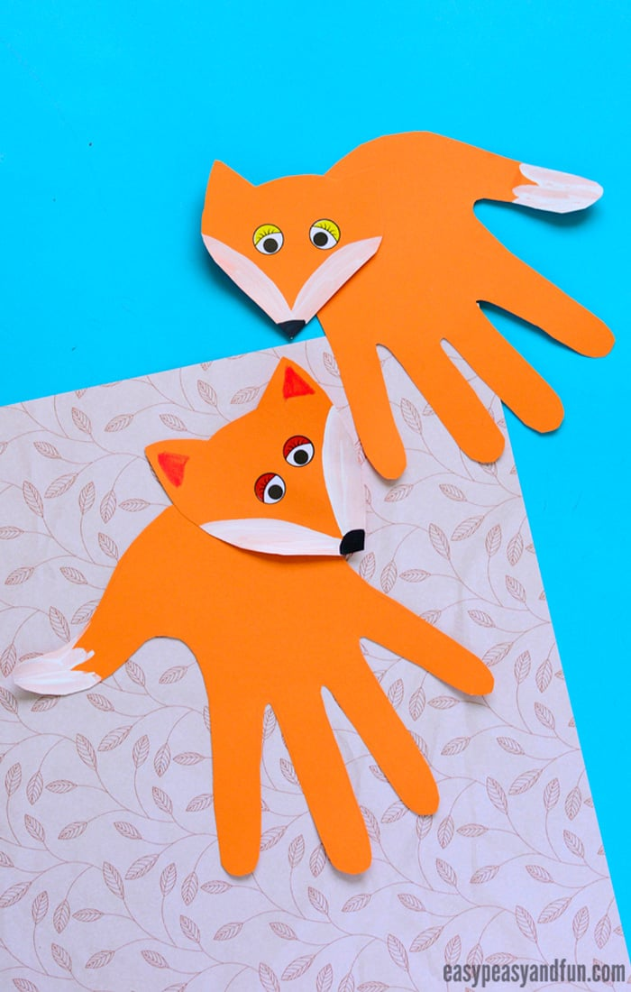 Handprint Fox Craft for Kids