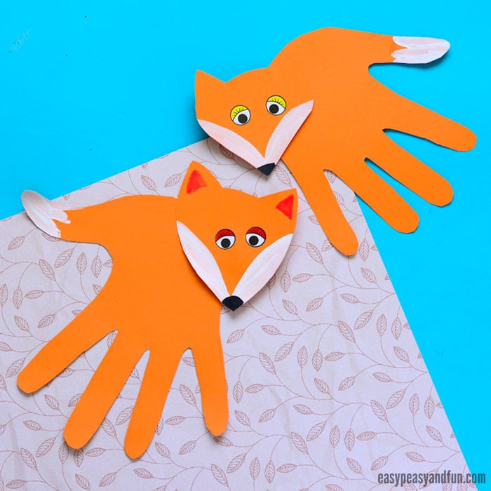 Handprint Fox Craft for Kids #handprintart