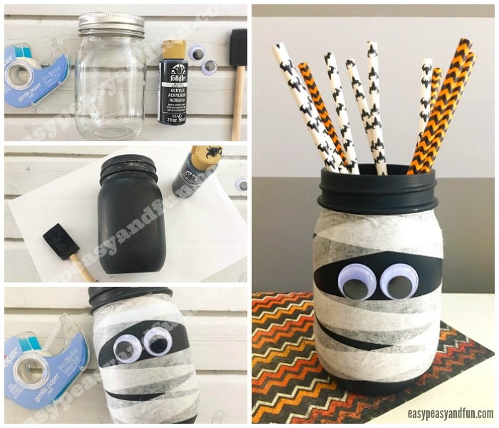 Mason Jar Mummy Craft for Kids