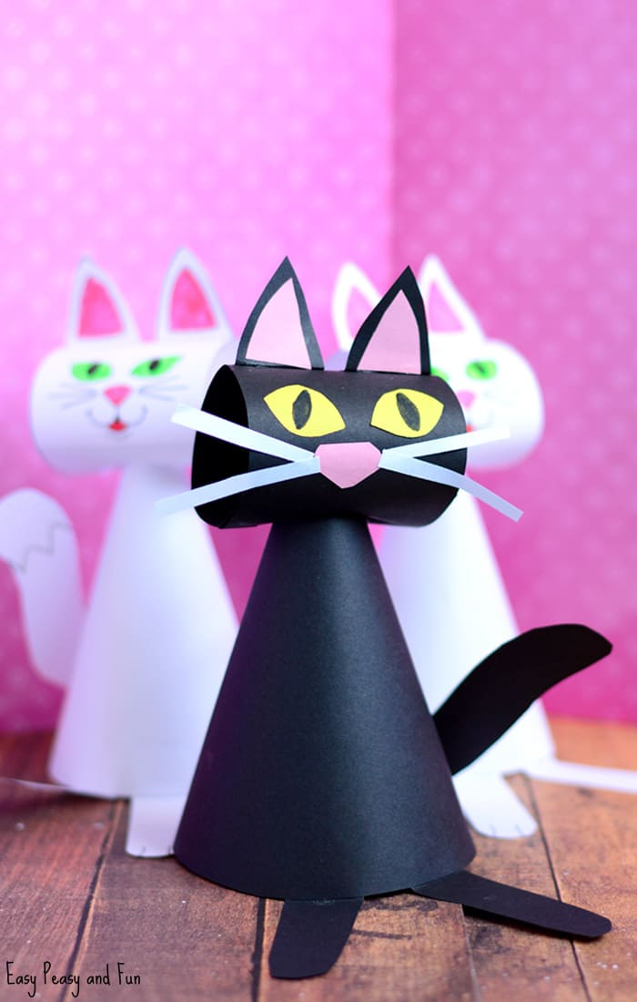 Paper Cat Craft Template for Kids