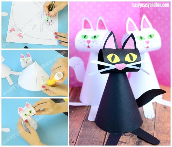 Paper Cat Template Craft
