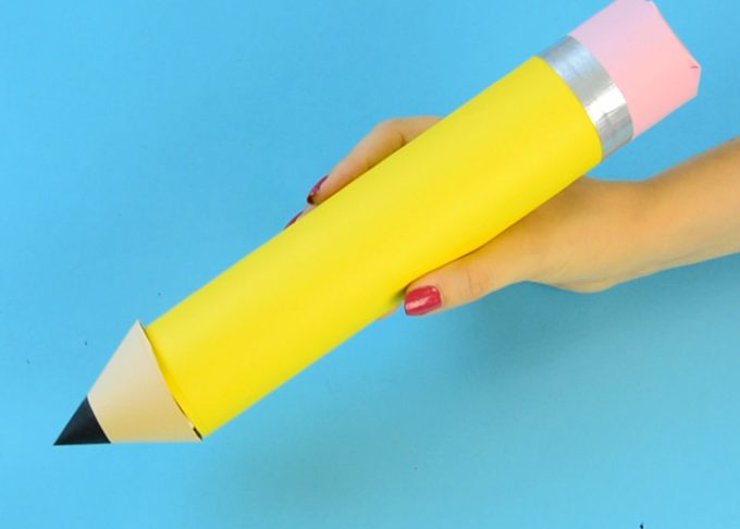 Paper Roll Pencil – Back to School Craft or Classroom Decoration Idea