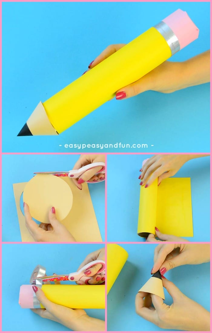 Paper Roll Pencil Craft for Kids