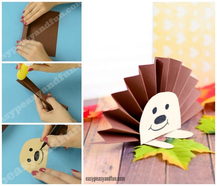 Paper Rosette Hedgehog Craft for Kids
