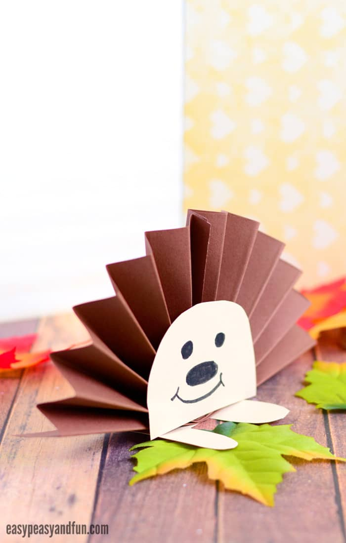 Paper Rosette Hedgehog Craft