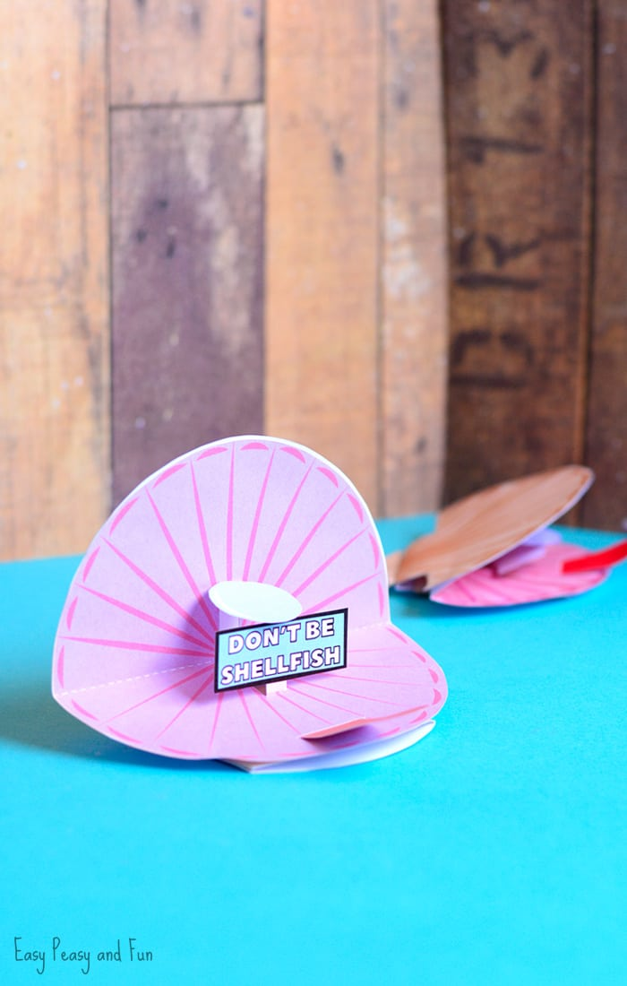 Seashell Pop Up Paper Craft for Kids