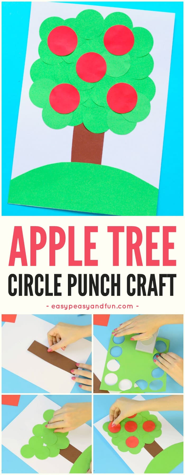 Simple Apple Tree Circle Punch Craft for Kids