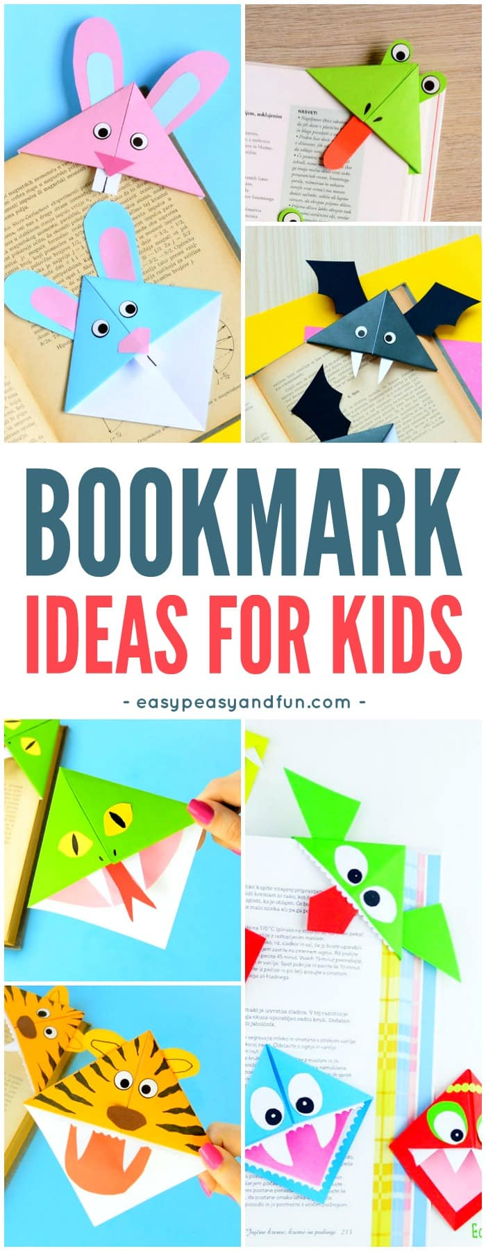 How to Make Corner Bookmarks + Ideas and Designs - Easy Peasy and Fun