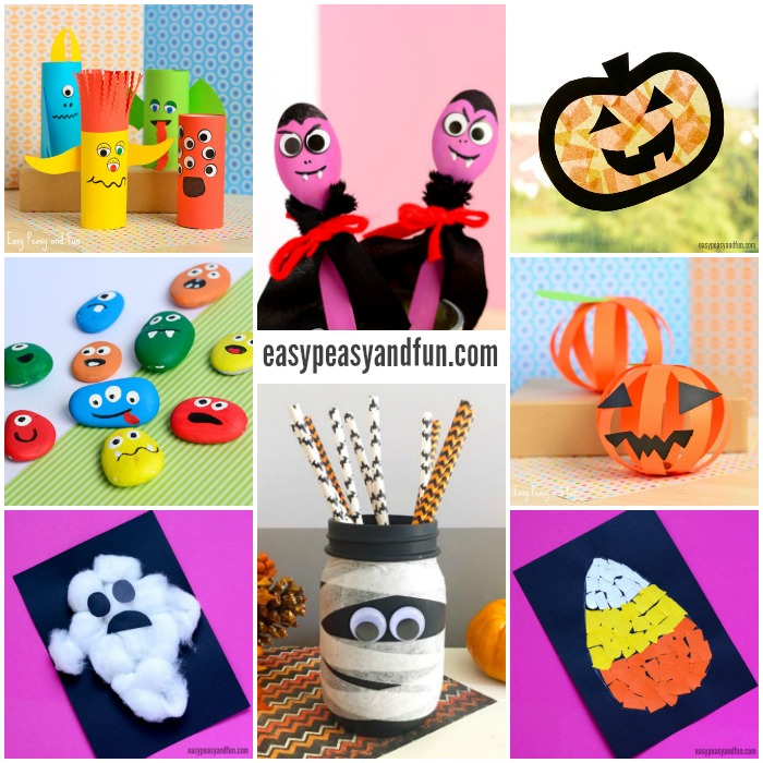 Simple Halloween Crafts for Kindergarten