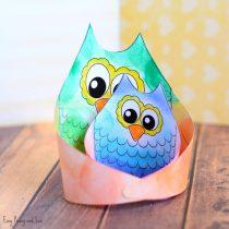 Simple Owl Craft Template