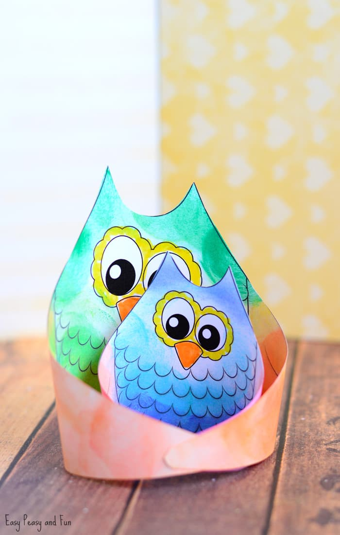 Simple Owl Craft Template