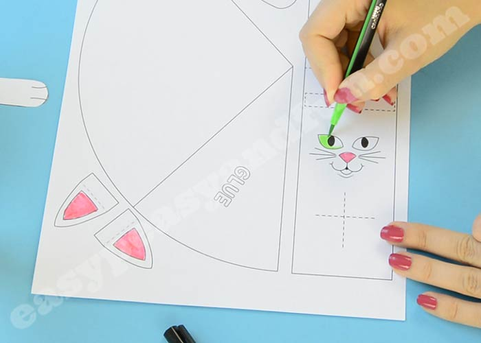 photo relating to Printable Stencil Paper titled Paper Cat Craft Template - Basic Peasy and Exciting