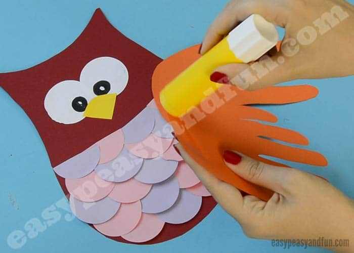 You Are Done With Your Construction Paper Owl Craft