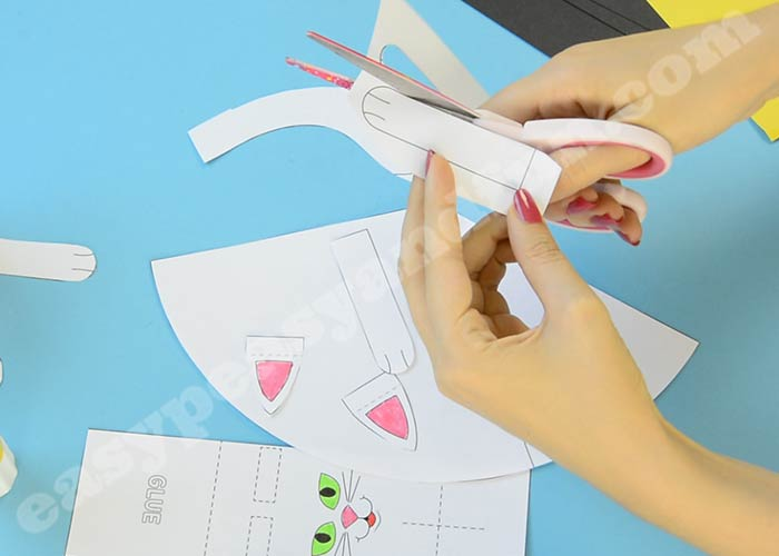 Paper Cat Craft Template - Easy Peasy and Fun