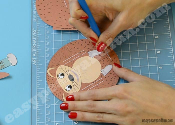 hedgehog pop up paper craft hedgehog pop up paper craft easy peasy and 6705