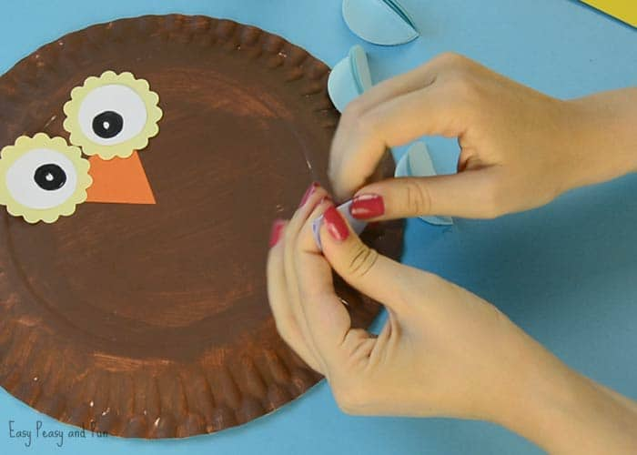 colorful paper plate owl colorful paper plate owl craft idea easy peasy and 3677